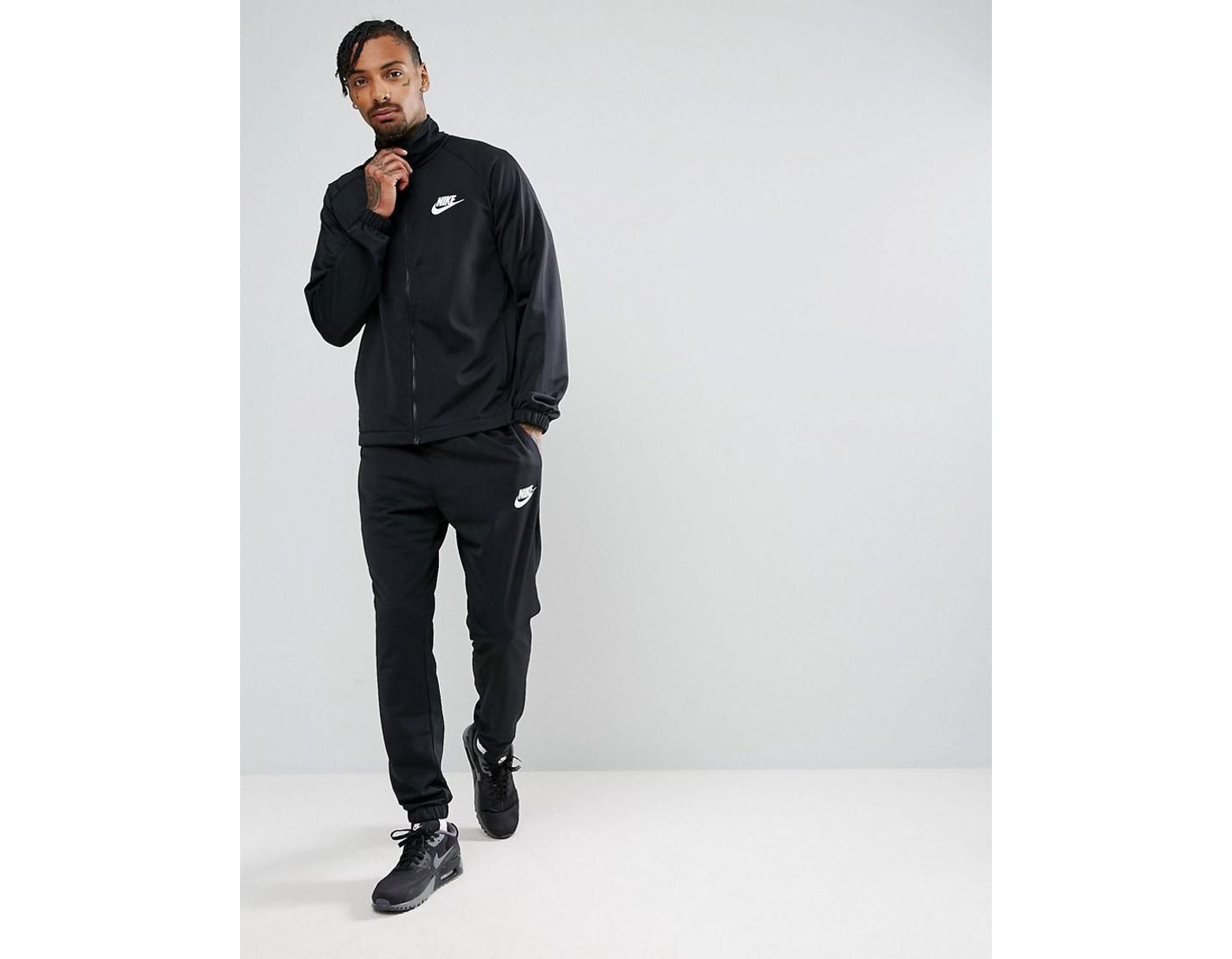 f26f099a Nike Polyknit Tracksuit Set In Black 861780-010 in Black for Men - Lyst