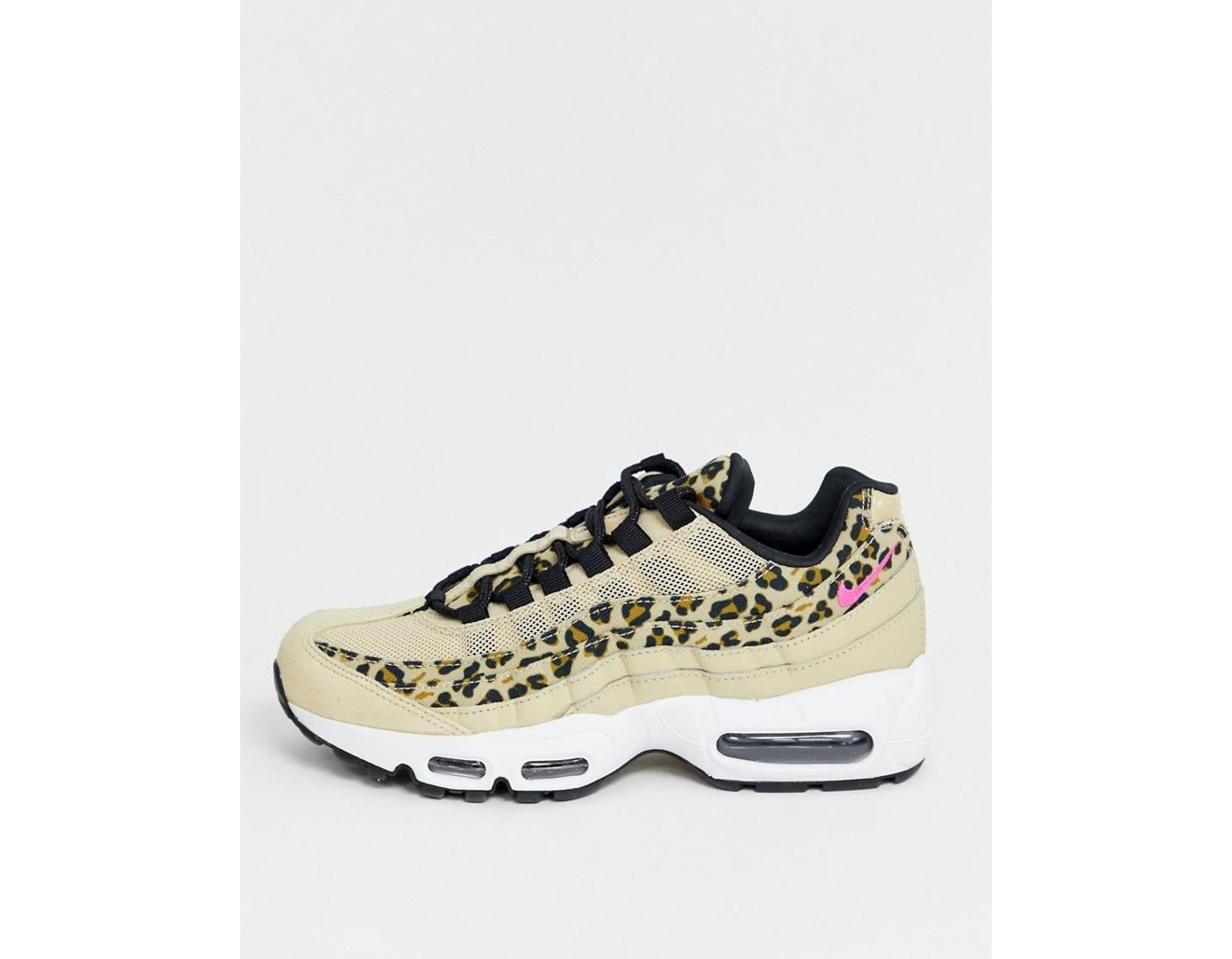 898d52ec0a94 Nike Leopard Print Air Max 95 Trainers - Lyst
