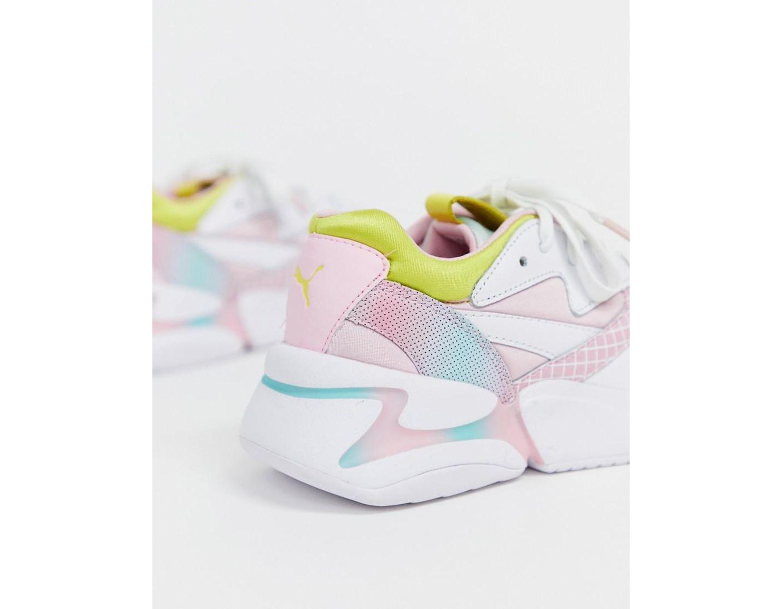 555d6b355 PUMA X Barbie Nova 90's Block Multi Color Sneakers - Lyst