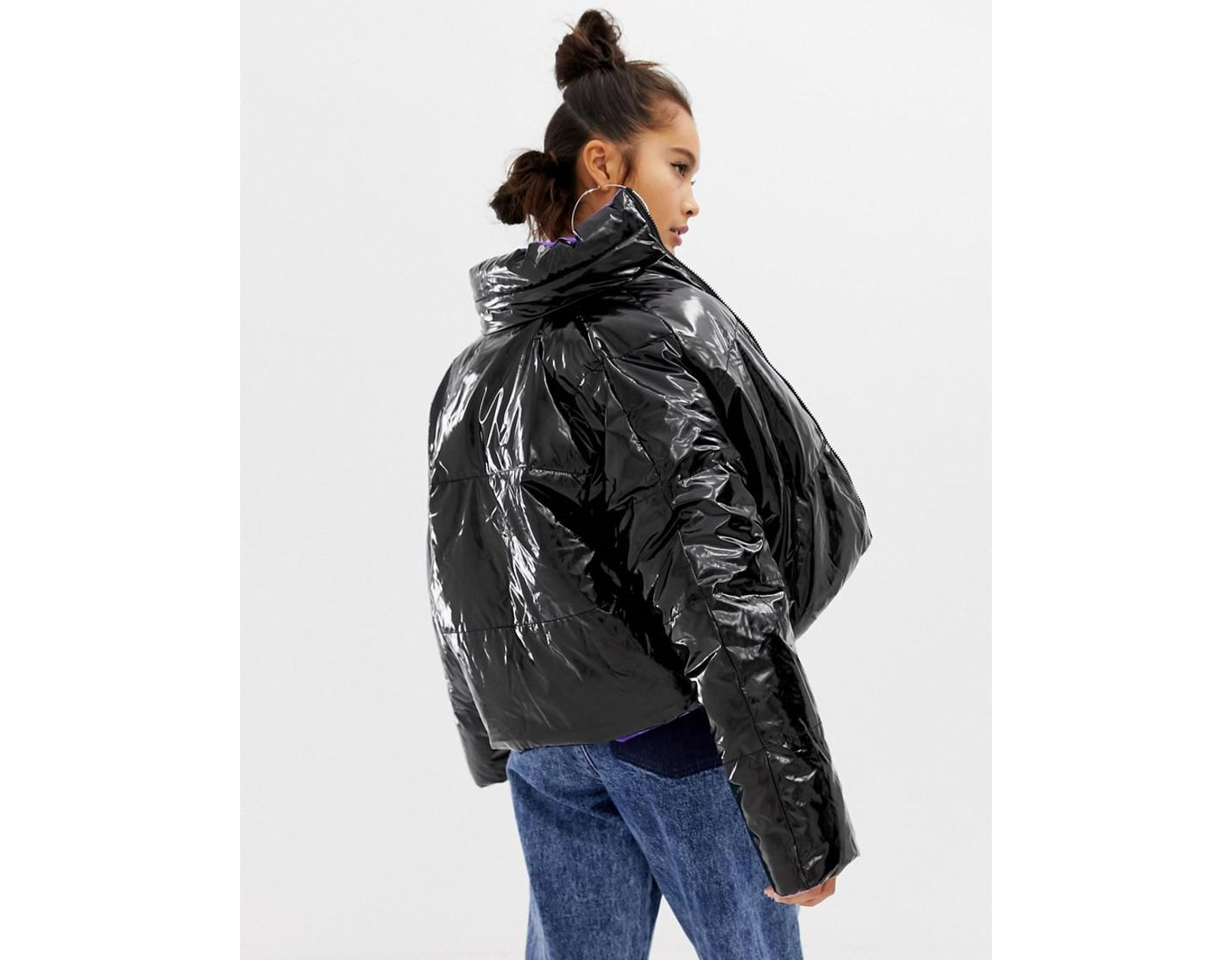 7ac36142afbb Collusion Reversible Puffer Jacket - Lyst