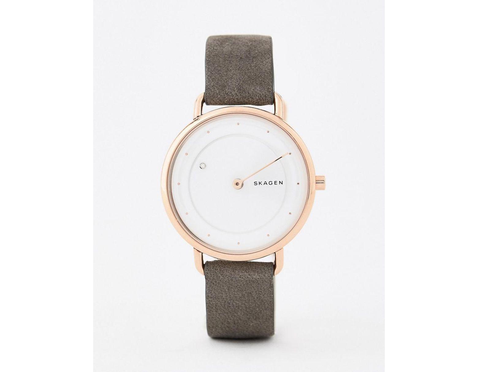 276530e4800 Skagen Skw2739 Horisont Leather Watch 36mm in Gray for Men - Lyst
