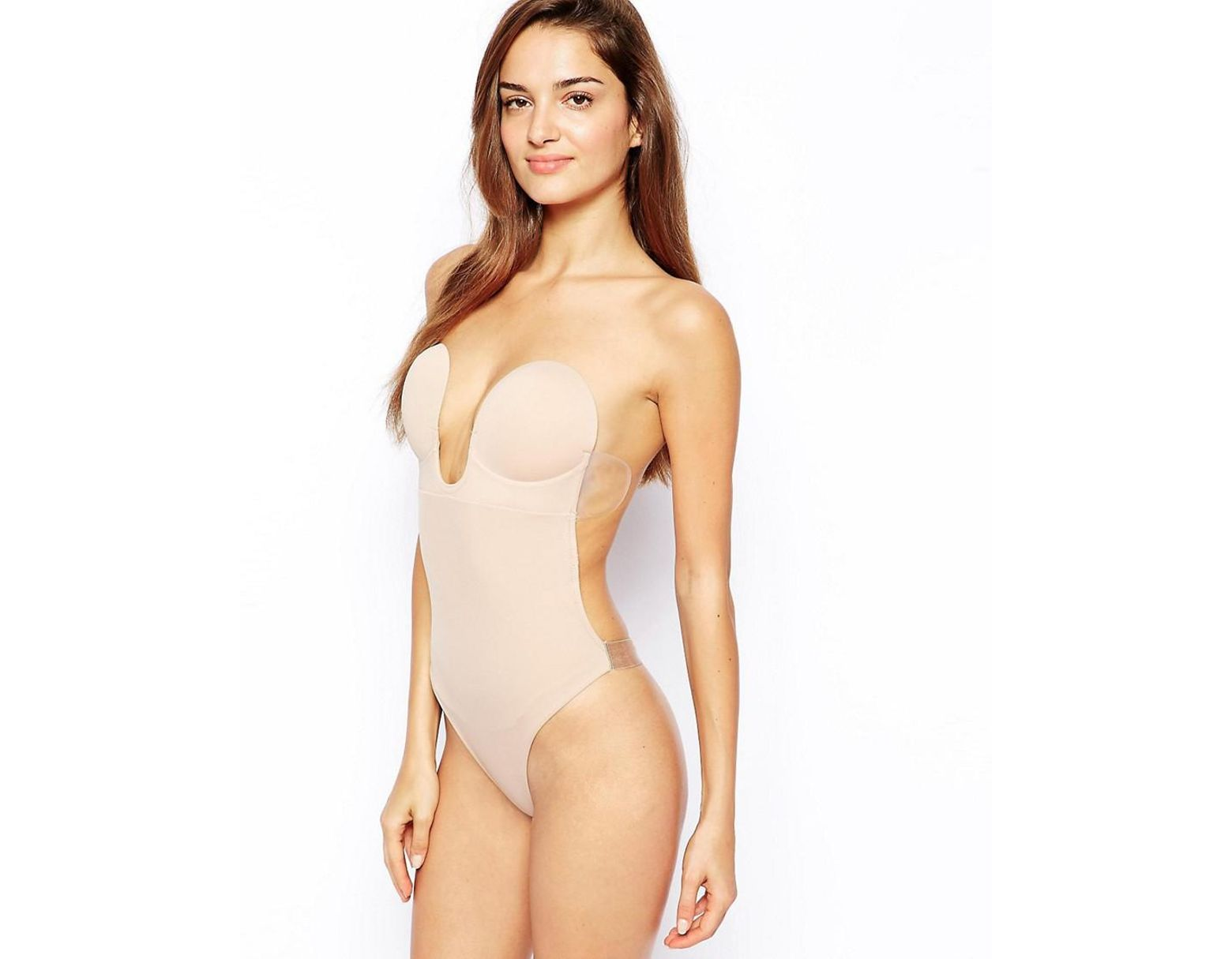 0e501c1ad8f Fashion Forms U Plunge Backless Strapless Bodysuit in Natural - Save 4% -  Lyst