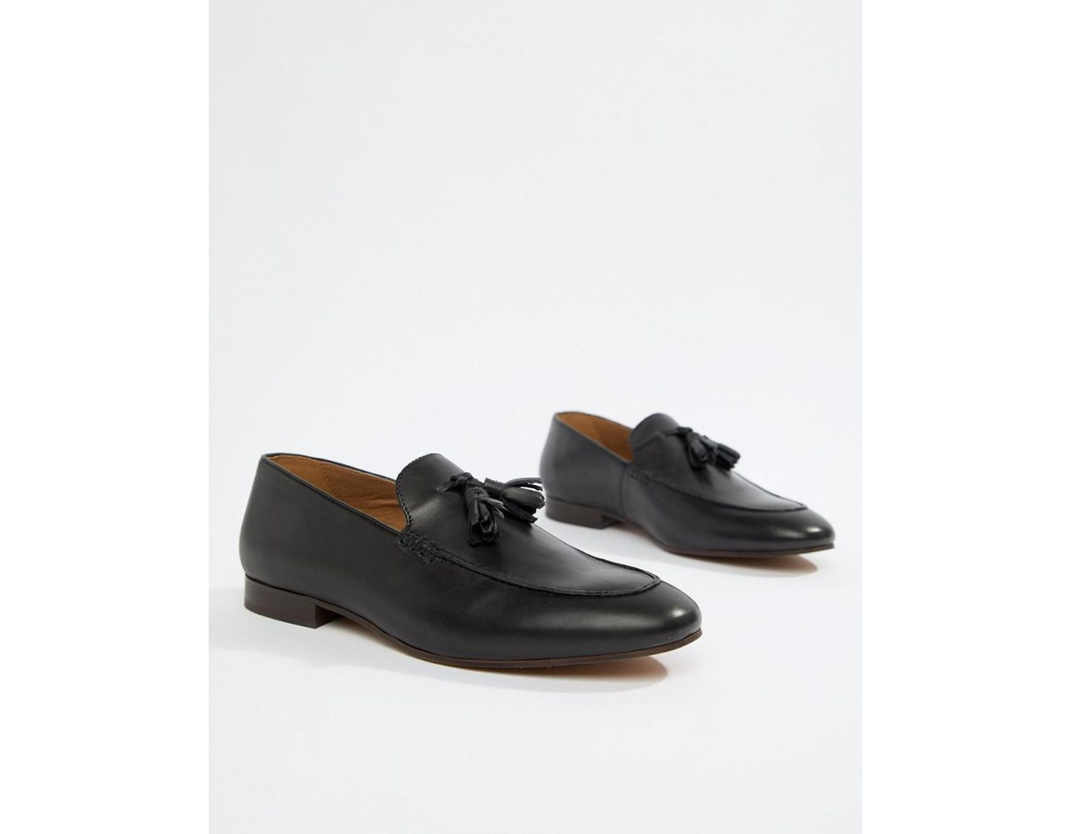 c576afc5d374a H by Hudson Bolton Tassel Loafers In Black Leather in Black for Men - Lyst