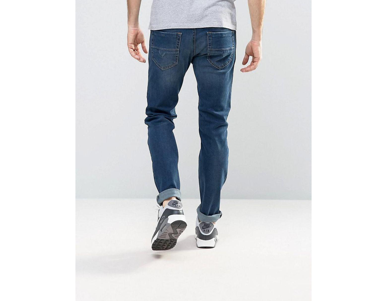 fc694b0c DIESEL Thommer Stretch Slim Fit Jeans In 084bu Dark Wash in Blue for Men -  Lyst
