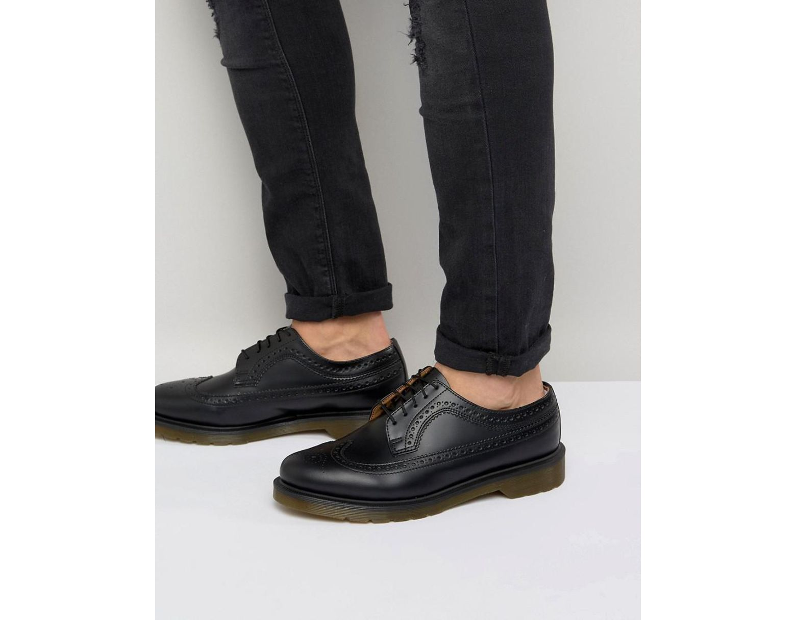 a90385e29c Dr. Martens 3989 Brogues In Black in Black for Men - Lyst