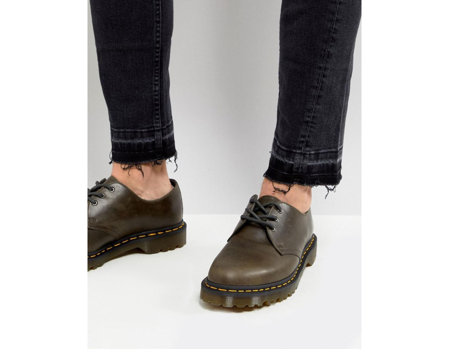 bff54690b2 Dr. Martens 1461 3-eye Shoes In Dark Taupe in Brown for Men - Lyst