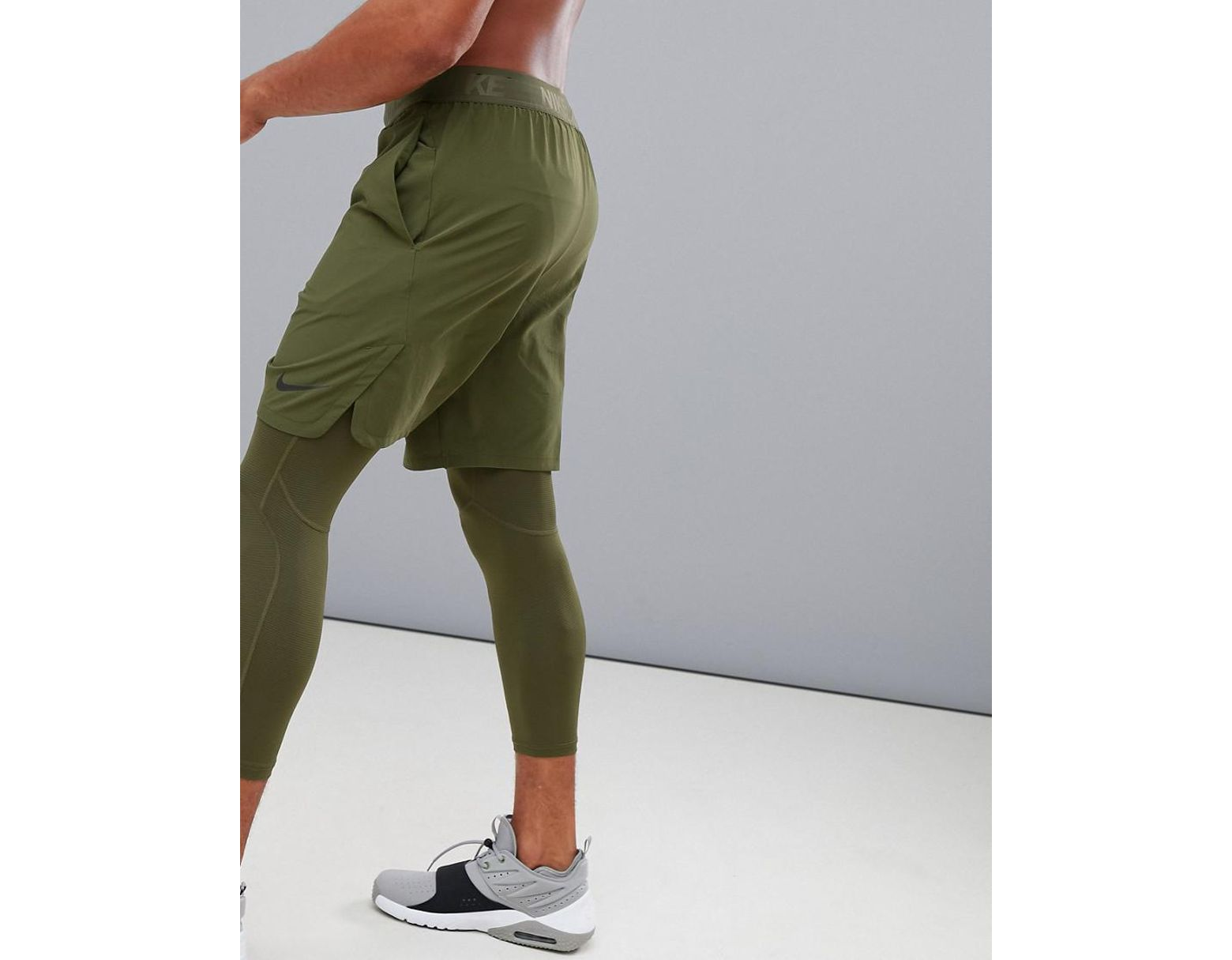 2e9d77157c81 Nike Flex Max 2.0 Vent Shorts In Khaki 886371-395 in Black for Men ...