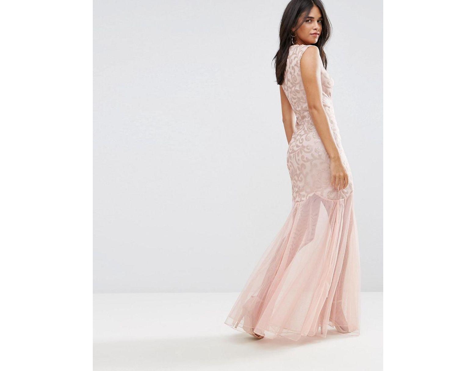895cd83c10b3 Pinkblush Maternity Pleated Chiffon Lace Top Maxi Dress - raveitsafe