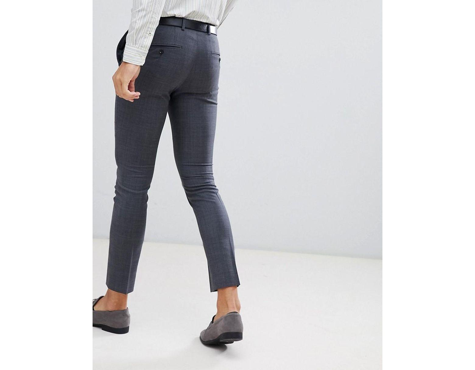 e4c9bf1d Jack & Jones Premium Super Slim Fit Stretch Suit Pants In Gray in Gray for  Men - Lyst