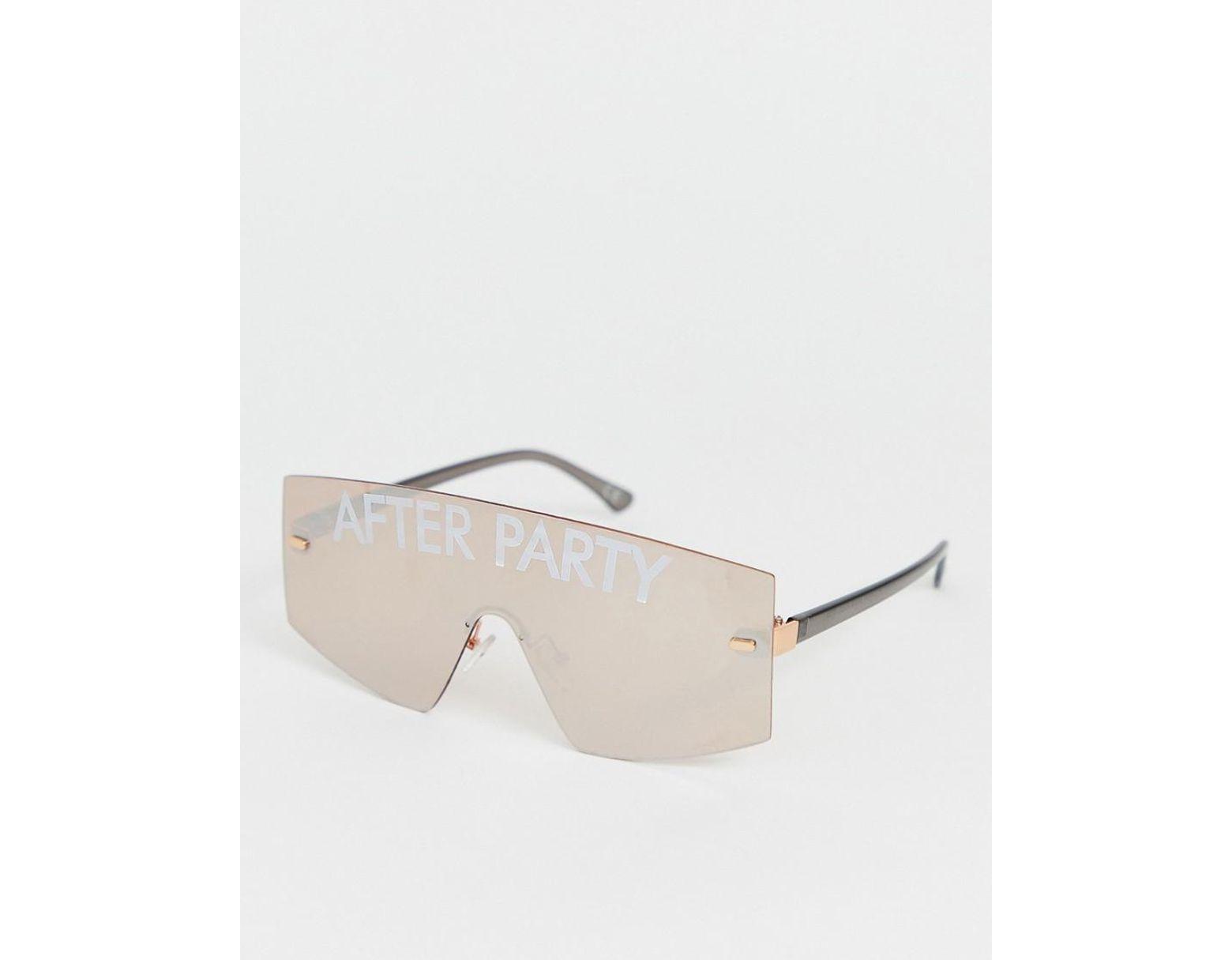 211d534350 Gafas de aviador con estampado After Party de ASOS de hombre de color Rosa  - Lyst