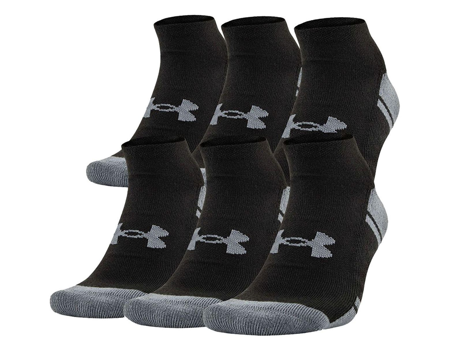 superior quality 39ee1 0d0cd Under Armour Men s Ua Resistor Iii No Show Socks 6-pack in Black for Men -  Save 5% - Lyst