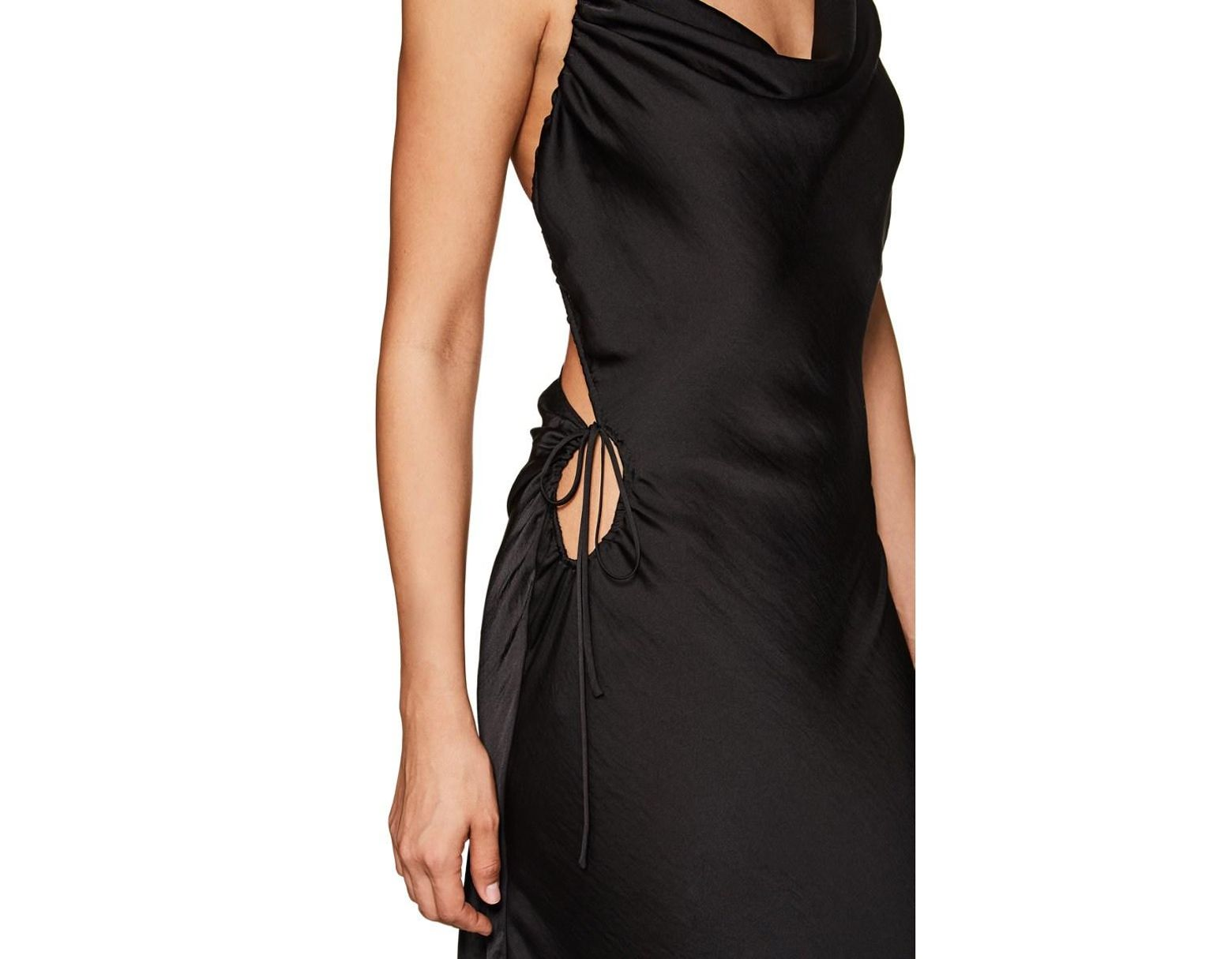 2d6d67dbd182 Juan Carlos Obando Washed Satin Backless Gown in Black - Lyst
