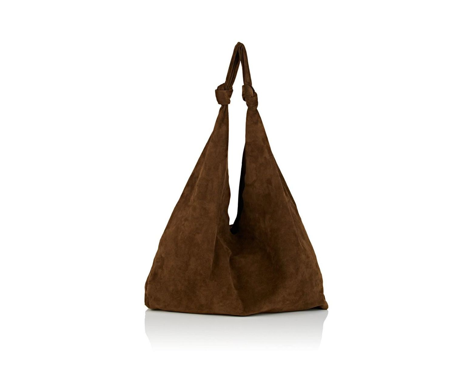 01c05749f57 Lyst - The Row Bindle Double-knot Suede Shoulder Bag in Green