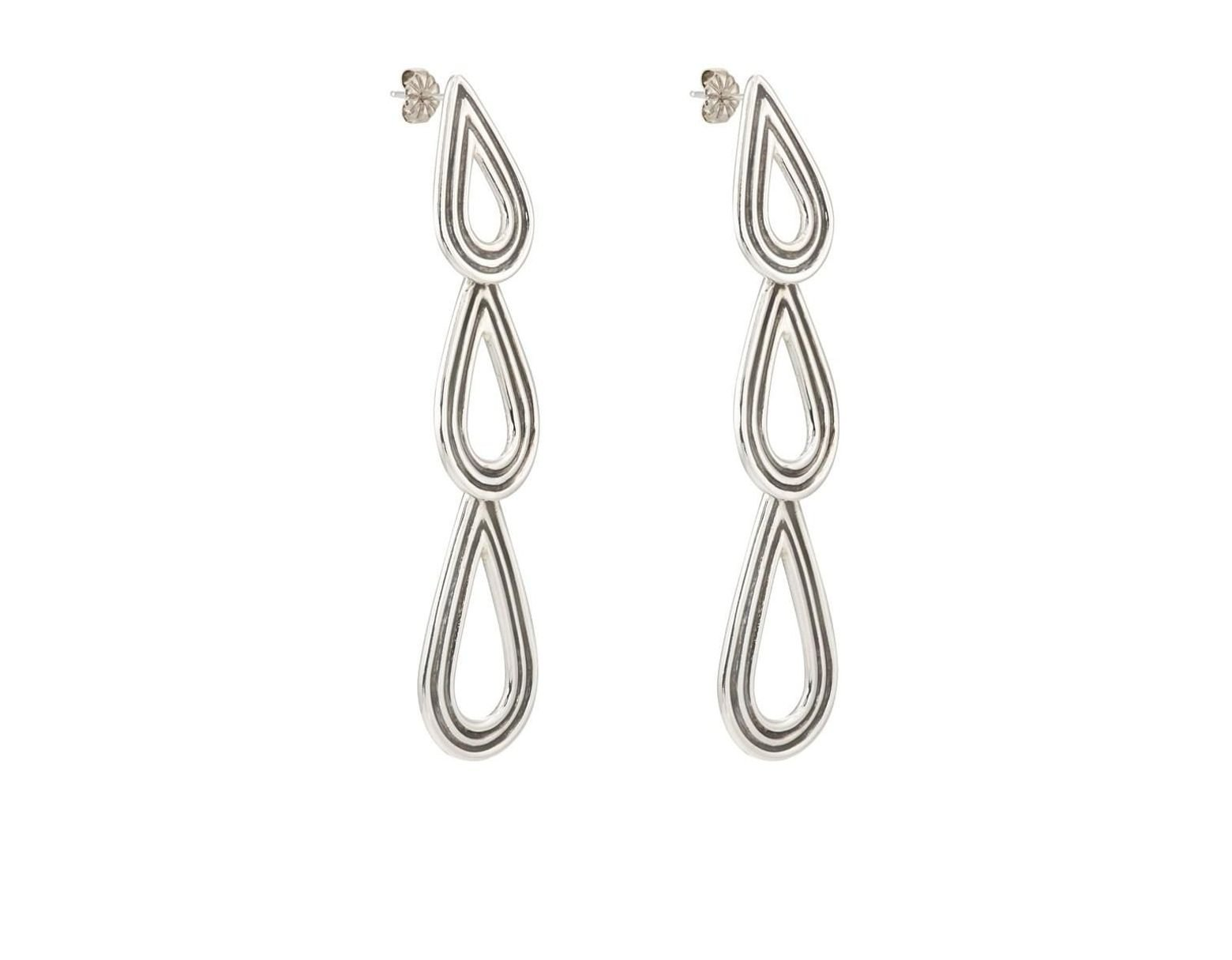 9d10ec78e Lyst - Pamela Love Three Phoebe Earrings in Metallic