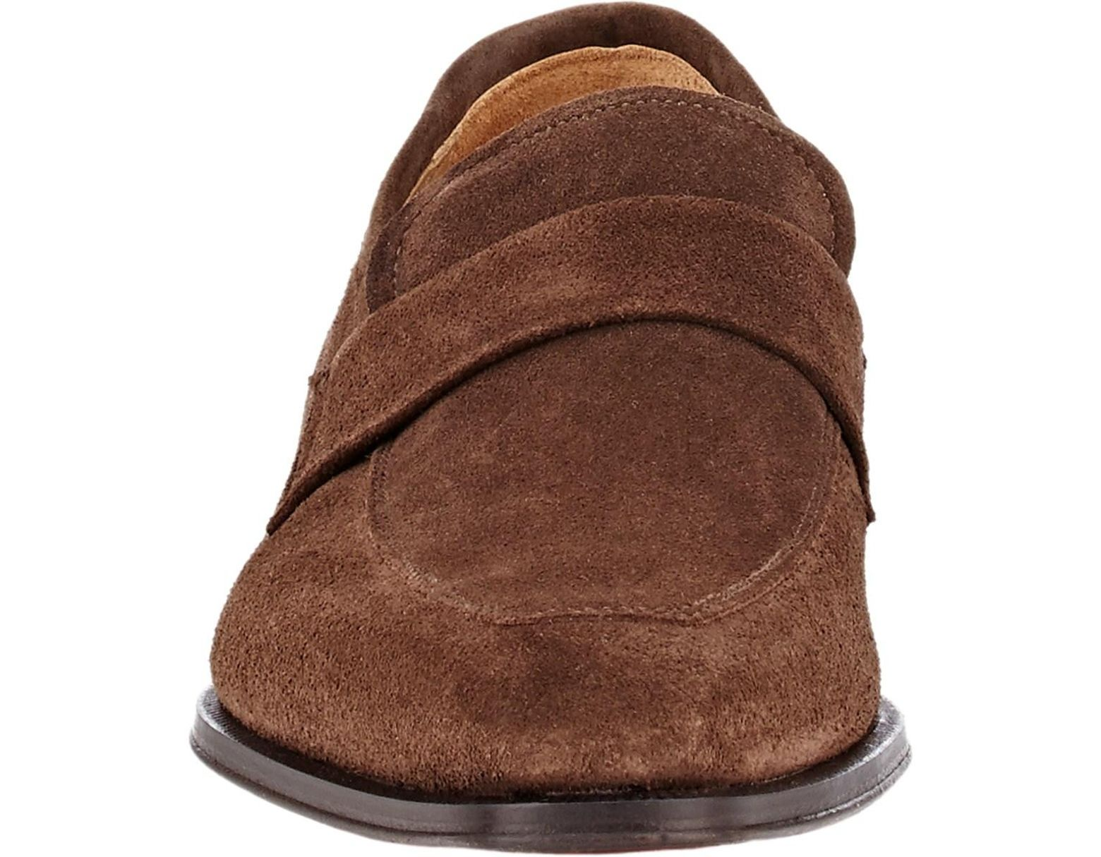c59923b0a584e Barneys New York Suede Apron-toe Loafers in Brown for Men - Save 60% - Lyst