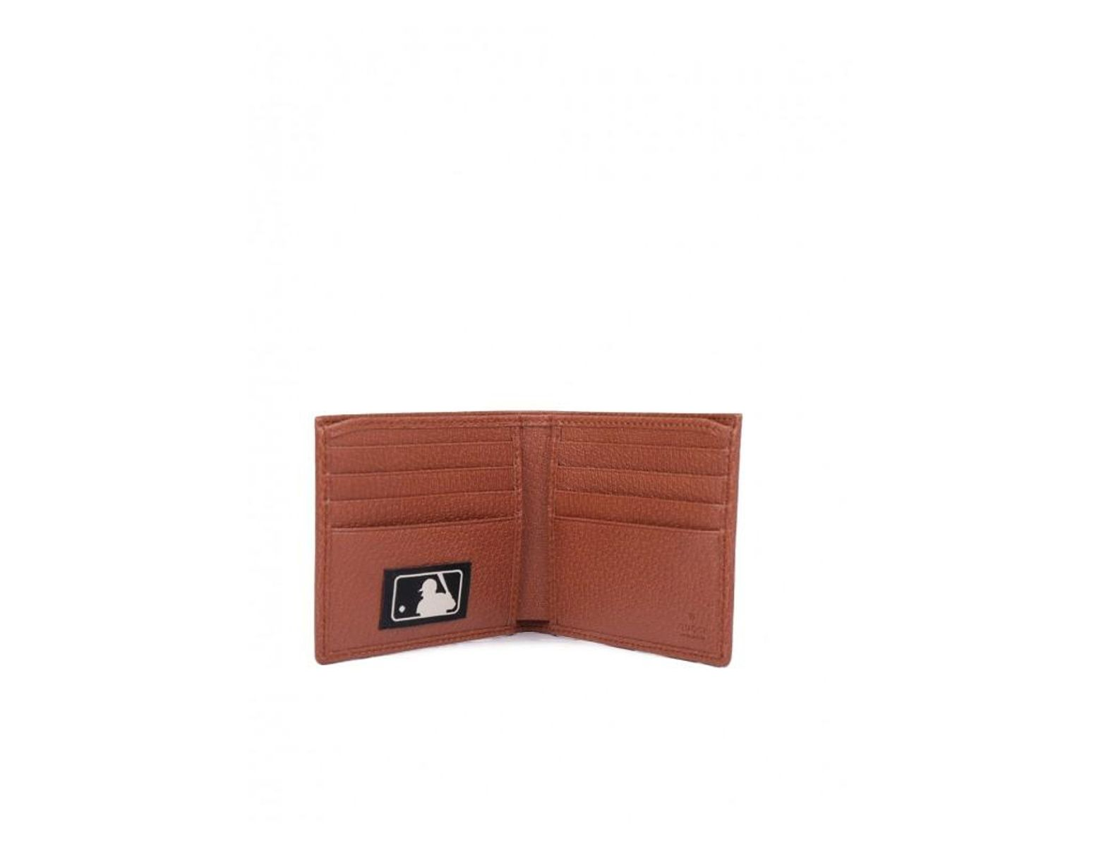 9c831d750f Gucci Original GG Canvas Wallet With New York Yankees Patchtm in Brown for  Men - Save 36% - Lyst