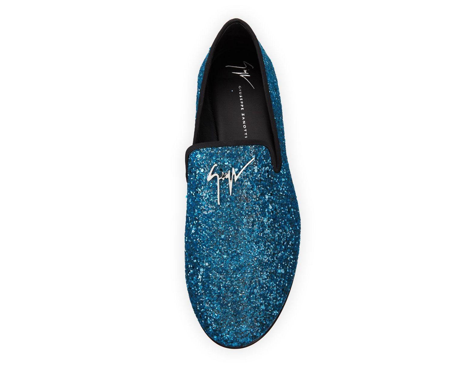 f4b5e27f4 Giuseppe Zanotti Men's Kevin Glitter Formal Slippers in Blue for Men - Save  18% - Lyst