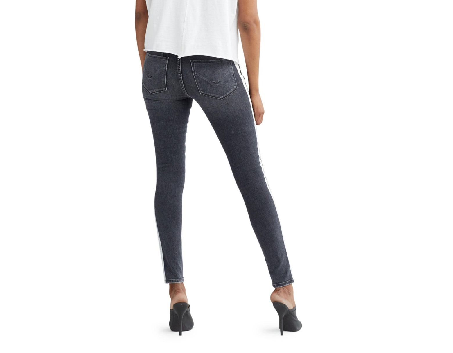 466ead4cdb8 Hudson Jeans Nico Mid-rise Super Skinny Ankle Jeans With Side Stripes in  Blue - Lyst