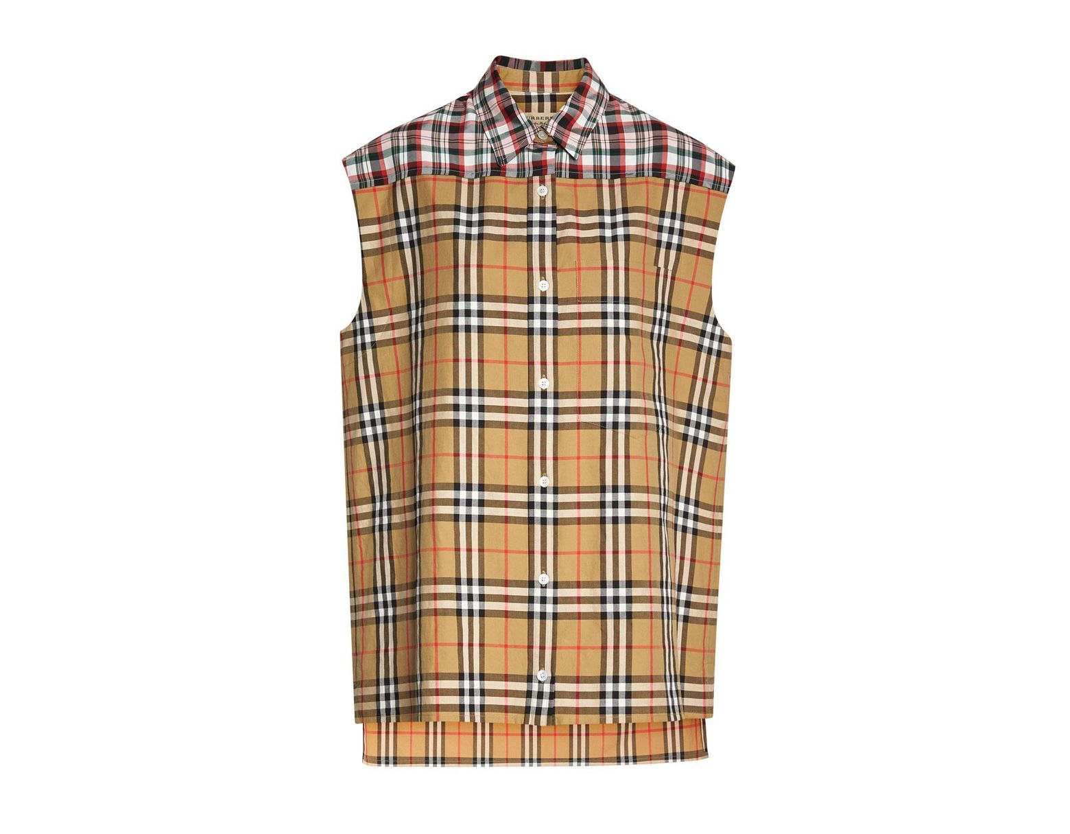 0dc3641563 Burberry Hen Sleeveless Vintage Check Button-front Shirt - Save 7% - Lyst