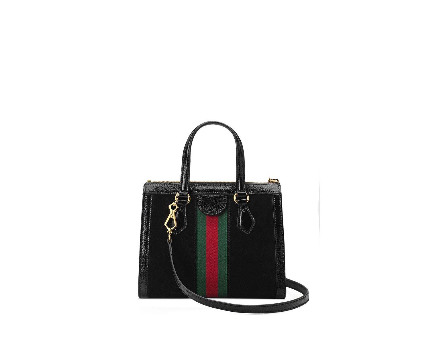 bae6a39e4bbe Gucci Ophidia Small Tote Bag in Black - Lyst