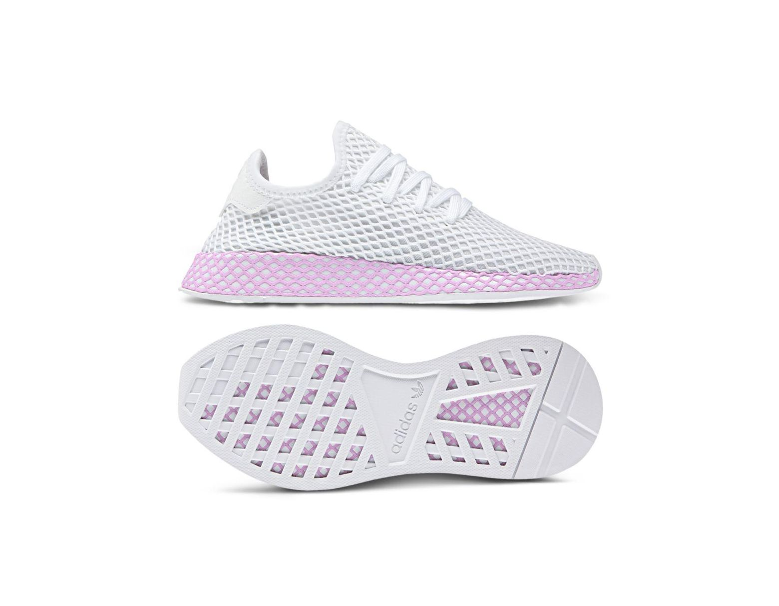a1a975dfe Lyst - adidas Women s Deerupt Net Lace Up Sneakers in White