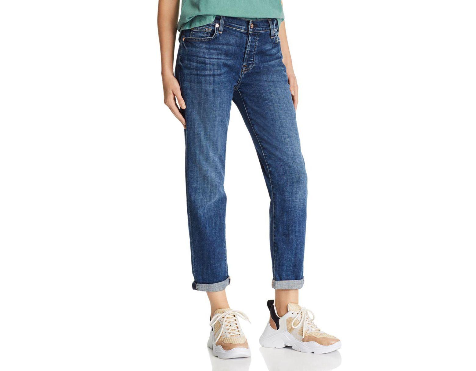 099ec8ee8cf7f 7 For All Mankind Josefina Boyfriend Jeans In Broken Twill Vanity in Blue -  Lyst