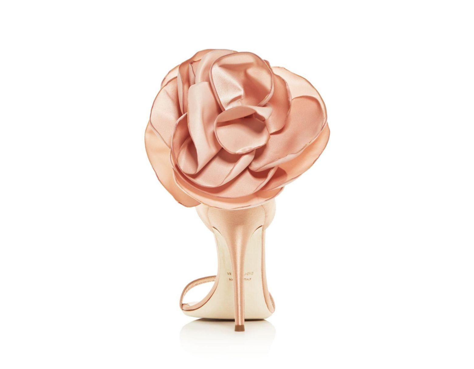 f5b4d16342289 Giuseppe Zanotti Satin Flower High Sandals - Save 18% - Lyst