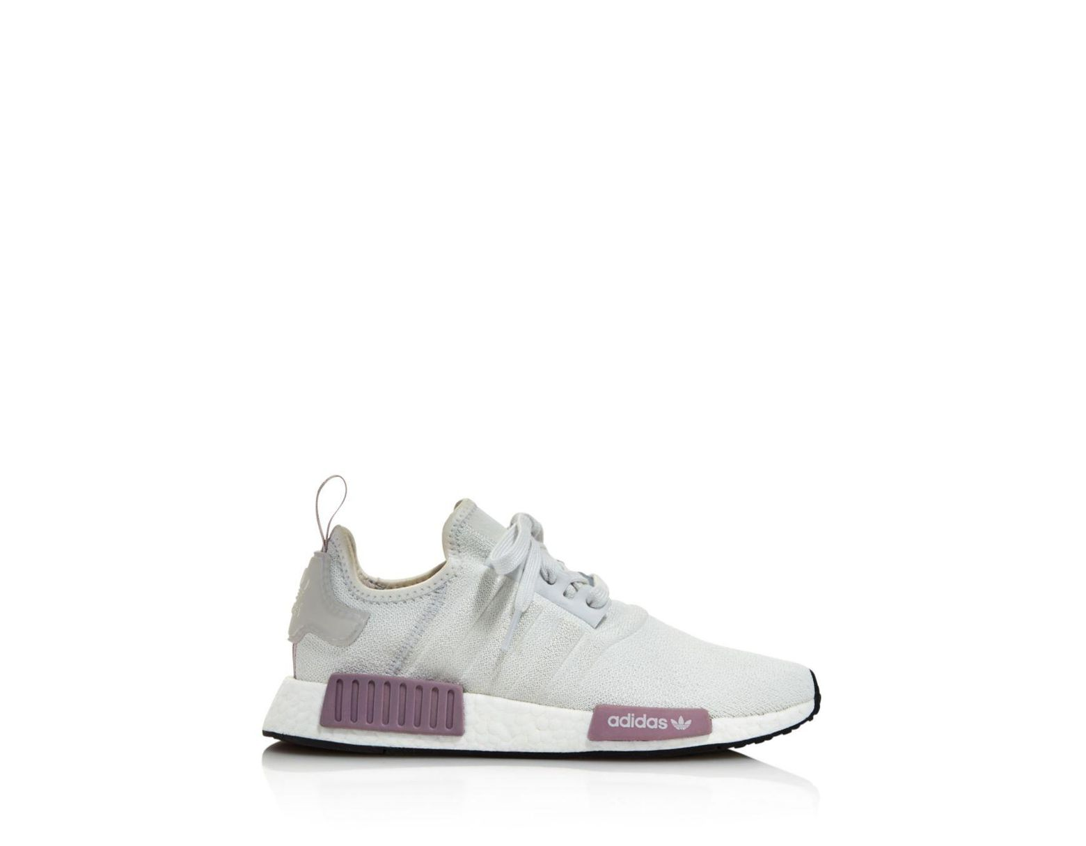 48a55c812b472 Lyst - adidas Women s Nmd R1 Knit Lace Up Sneakers in Gray