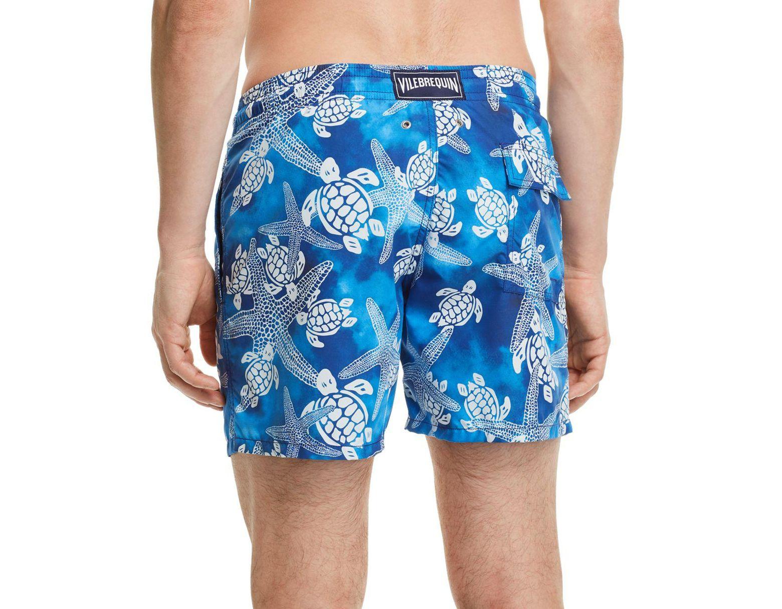 6709279dabd53 Vilebrequin Moorea Starfish Swim Trunks in Blue for Men - Lyst