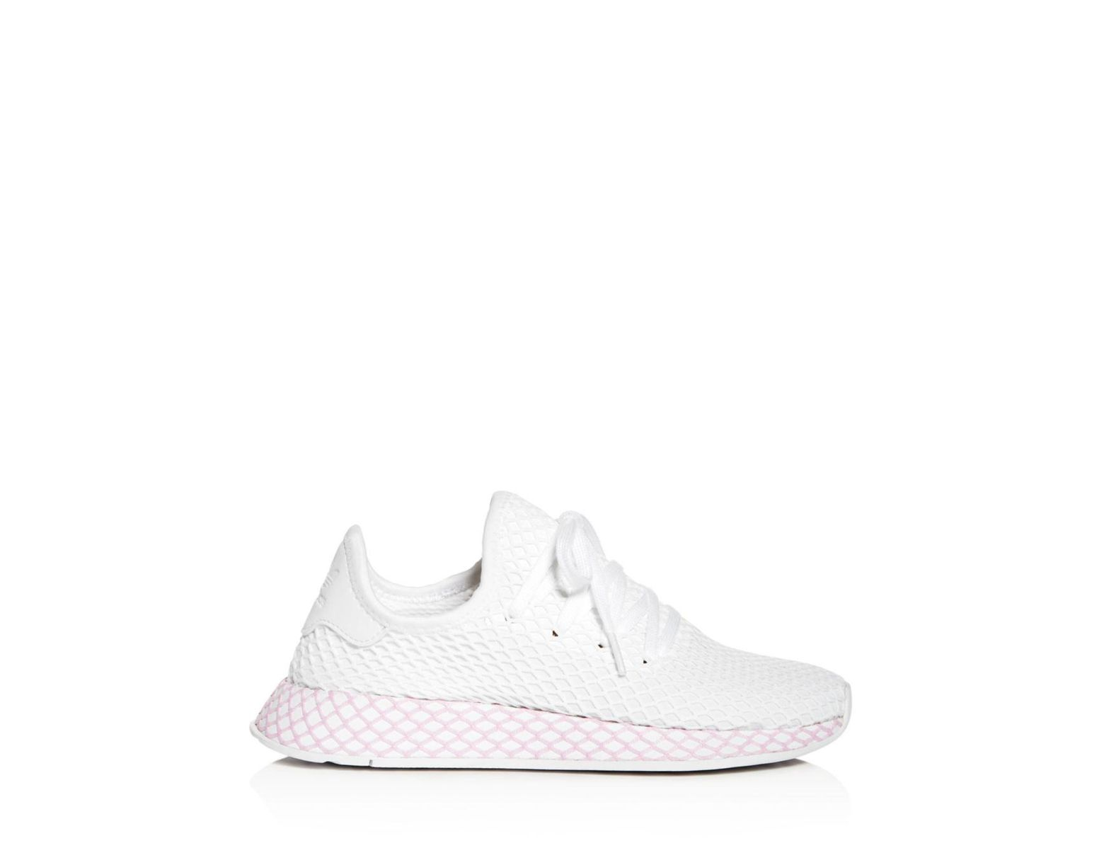 bfbc8875b89ed Lyst - adidas Women s Deerupt Net Lace Up Sneakers in White