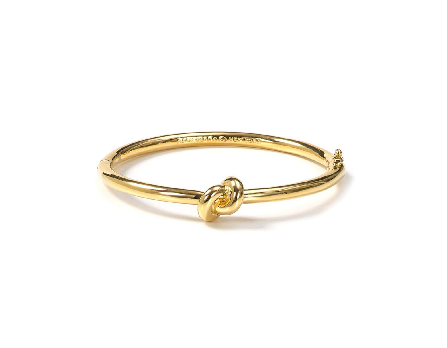 1412981a9 Kate Spade Sailor's Knot Hinge Bangle in Metallic - Lyst
