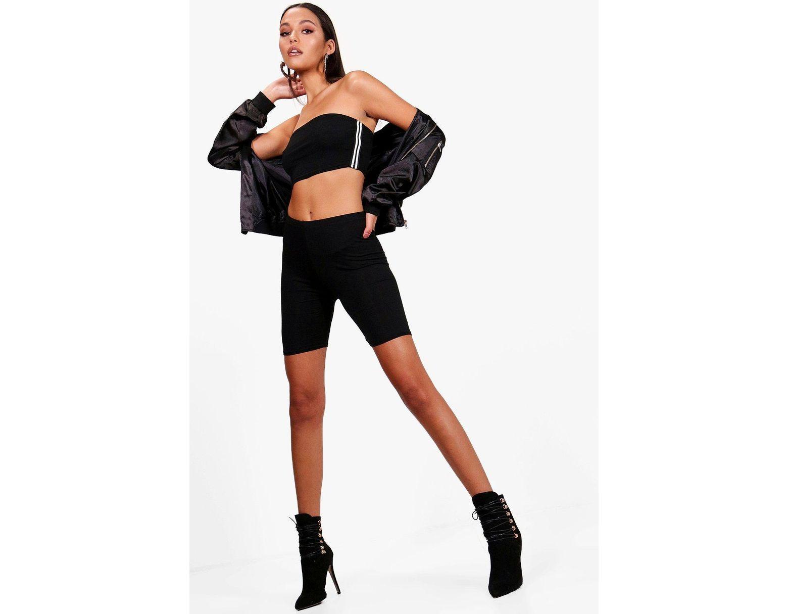 eb24e037b06d Boohoo Basic Cycling Shorts in Black - Lyst
