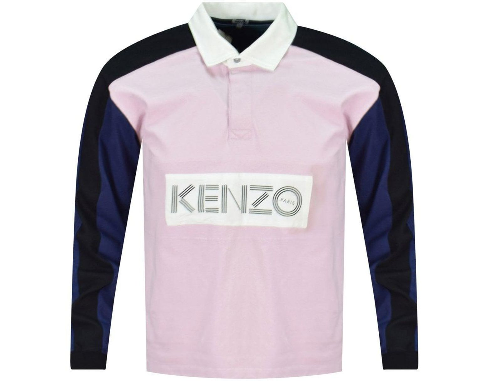 1dc8a15137 KENZO Pink Block Colour Rugby Polo Shirt in Pink for Men - Save 59% - Lyst