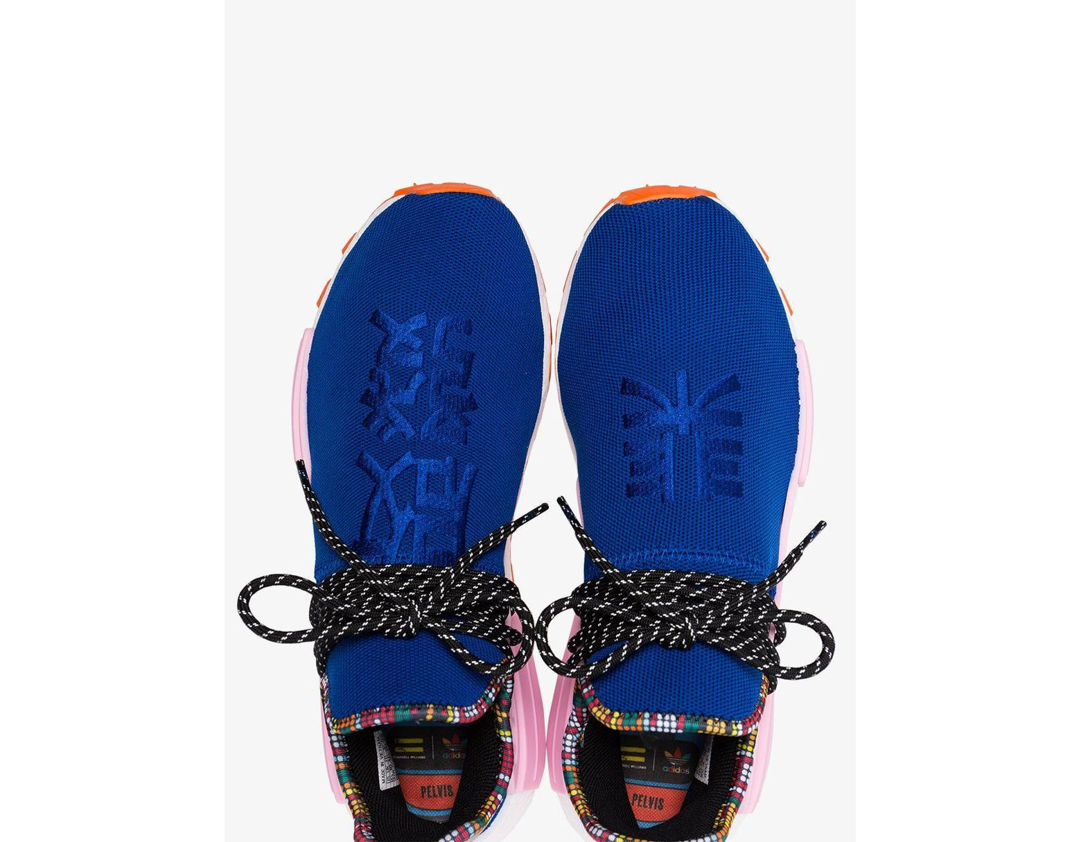 5b24b5fd0 Lyst - adidas X Pharrell Williams Blue Human Body Nmd Sneakers in Blue for  Men