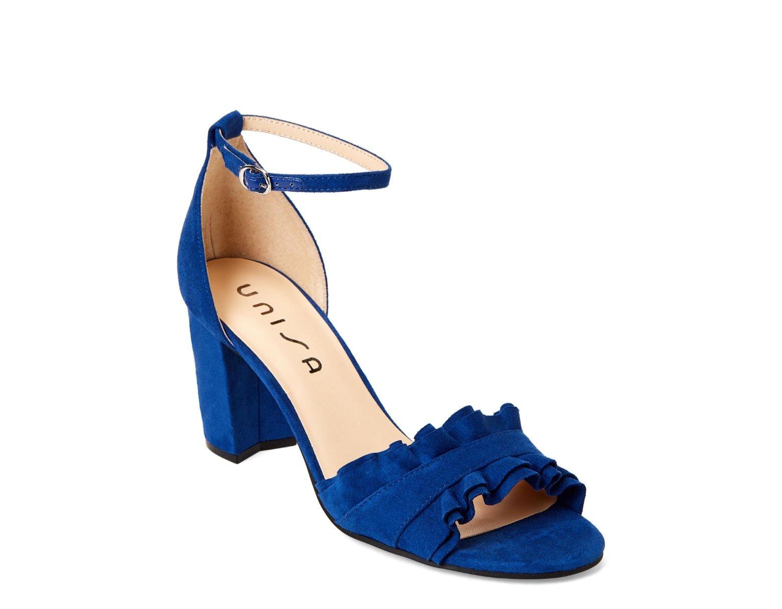 e7632f2e60 Unisa Royal Blue Danni Ruffle Ankle Strap Sandals in Blue - Lyst