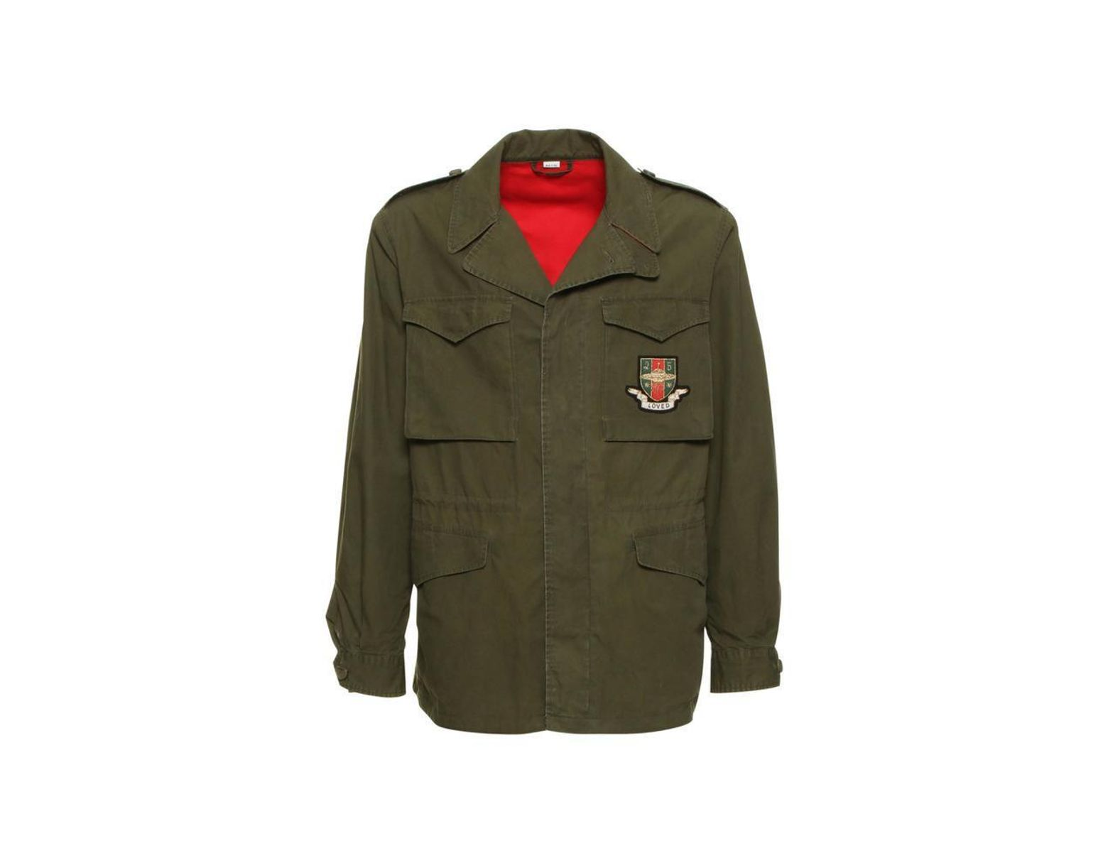 29fad514c26b Gucci Angry Cat Embellished Parka Jacket in Green for Men - Save 2 ...