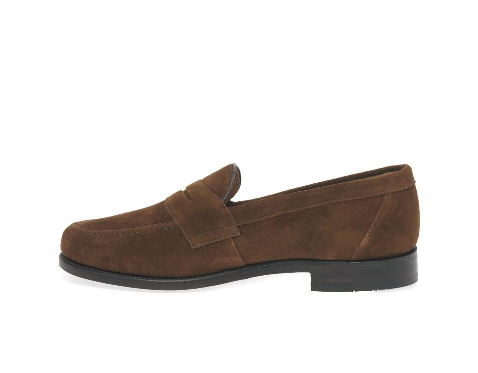 01918ac881799 Loake Eton Mens Suede Formal Loafers in Brown for Men - Lyst