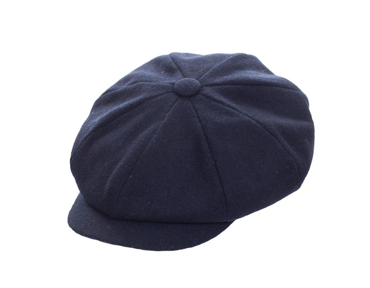 412d3f4f Failsworth Alfie 8 Piece Melton Cap in Blue for Men - Lyst