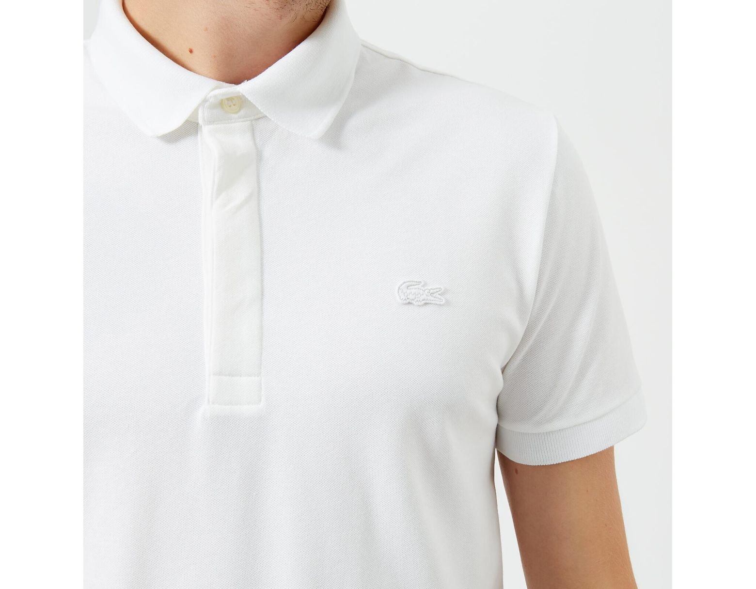 fec263d014 Lacoste Short Sleeve Paris Polo Shirt in White for Men - Lyst
