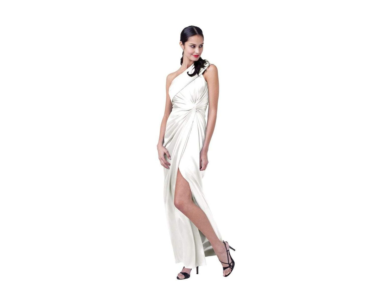 4875770a Adrianna Papell 41839640 Pleated Asymmetric Sheath Dress in Purple - Lyst