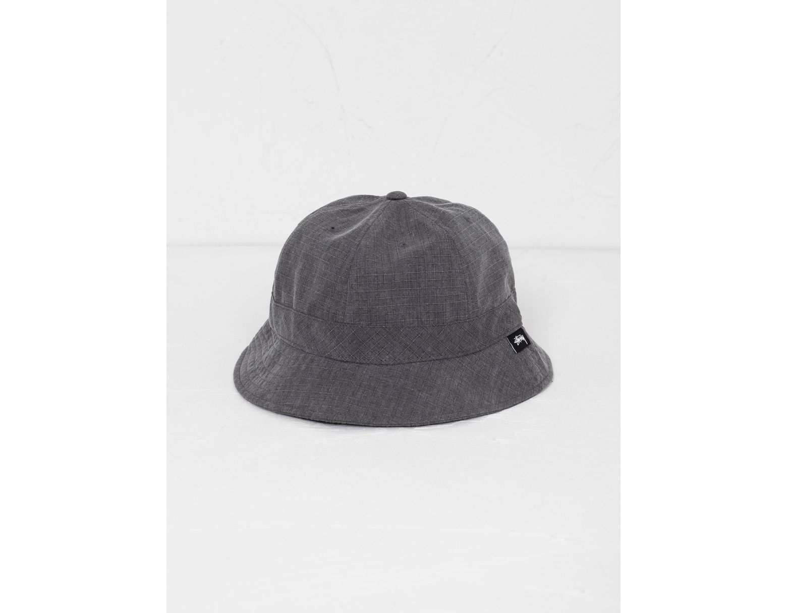 198c789ae6e9b6 Stussy Washed Ripstop Bell Bucket Hat Black in Black for Men - Lyst