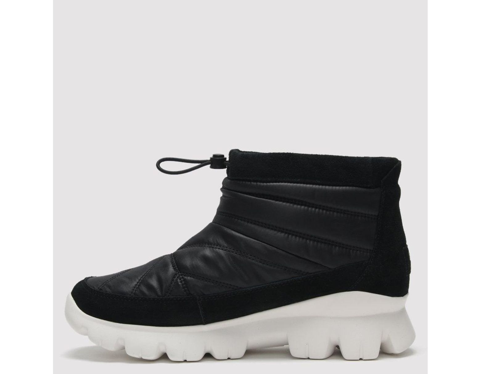 99eb05884d5 UGG Centara Black Nylon & Suede Ankle Boots in Black - Lyst