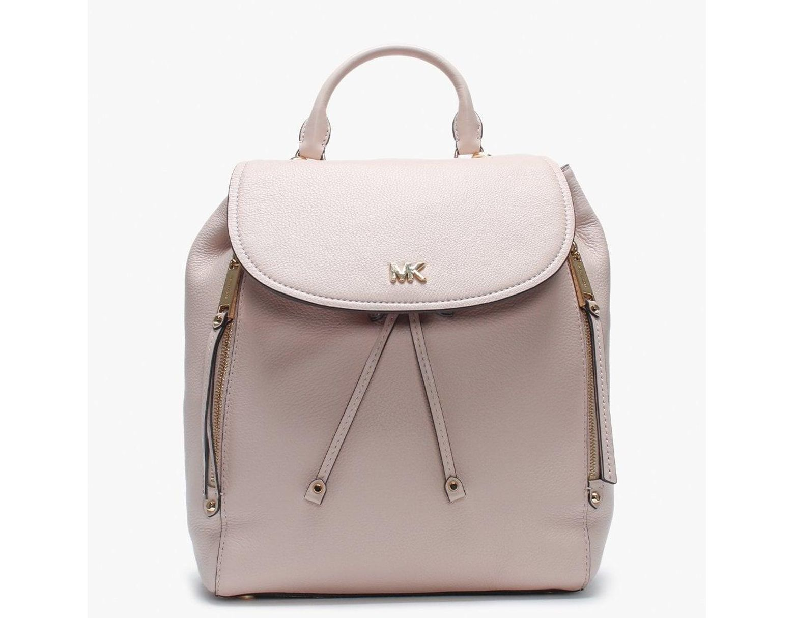 99d86fbd649abe Michael Kors Medium Evie Soft Pink Leather Backpack in Pink - Lyst