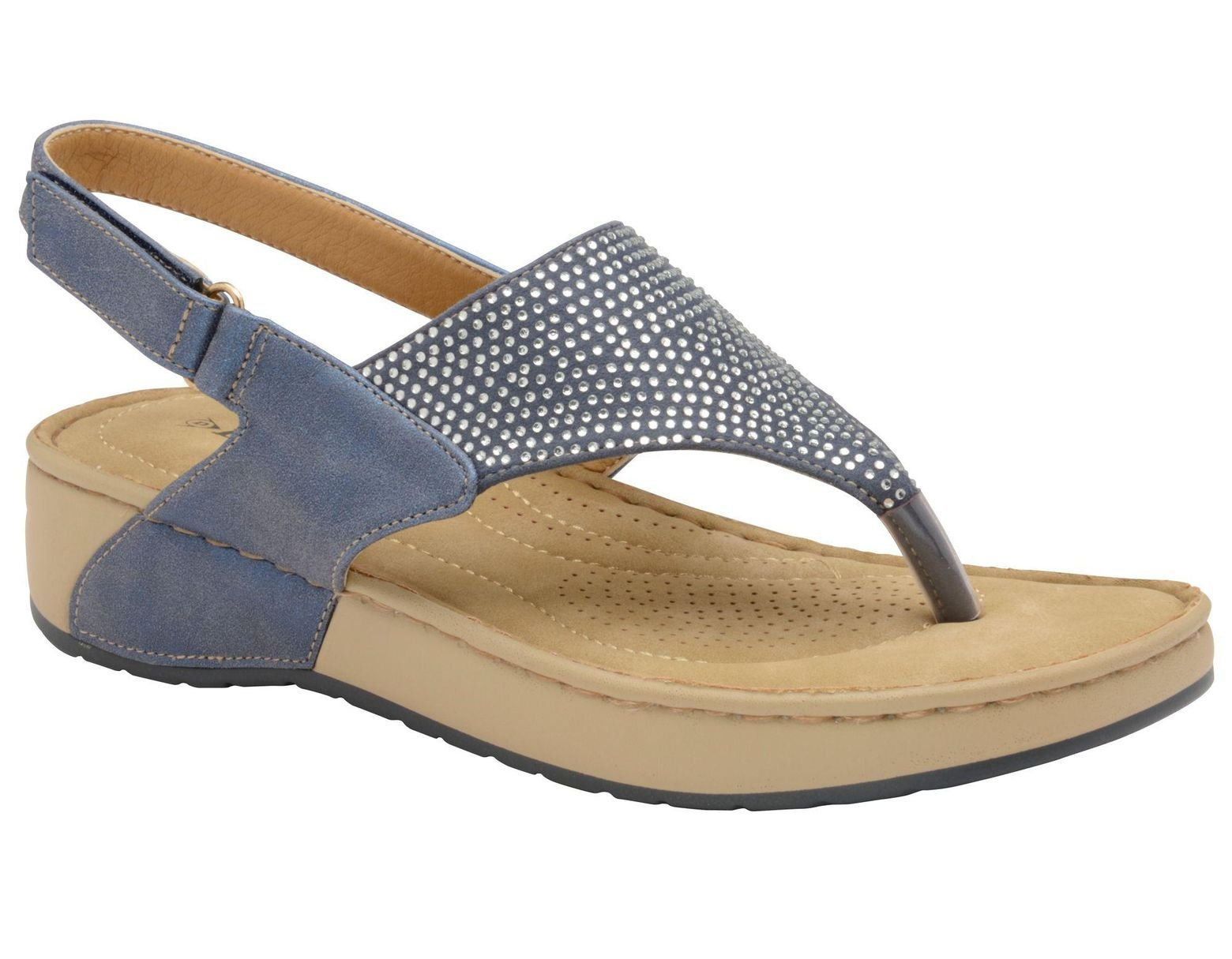 d3498a5882b6 Dunlop Lapis Blue 'zelda' Ladies Toe Post Sandals in Blue - Lyst