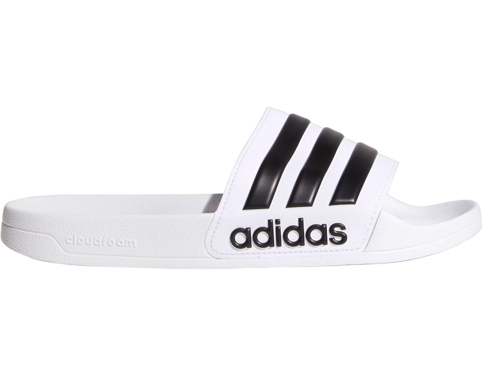 d6fe8314b adidas Adilette Cloudfoam Slides in White for Men - Save 38% - Lyst