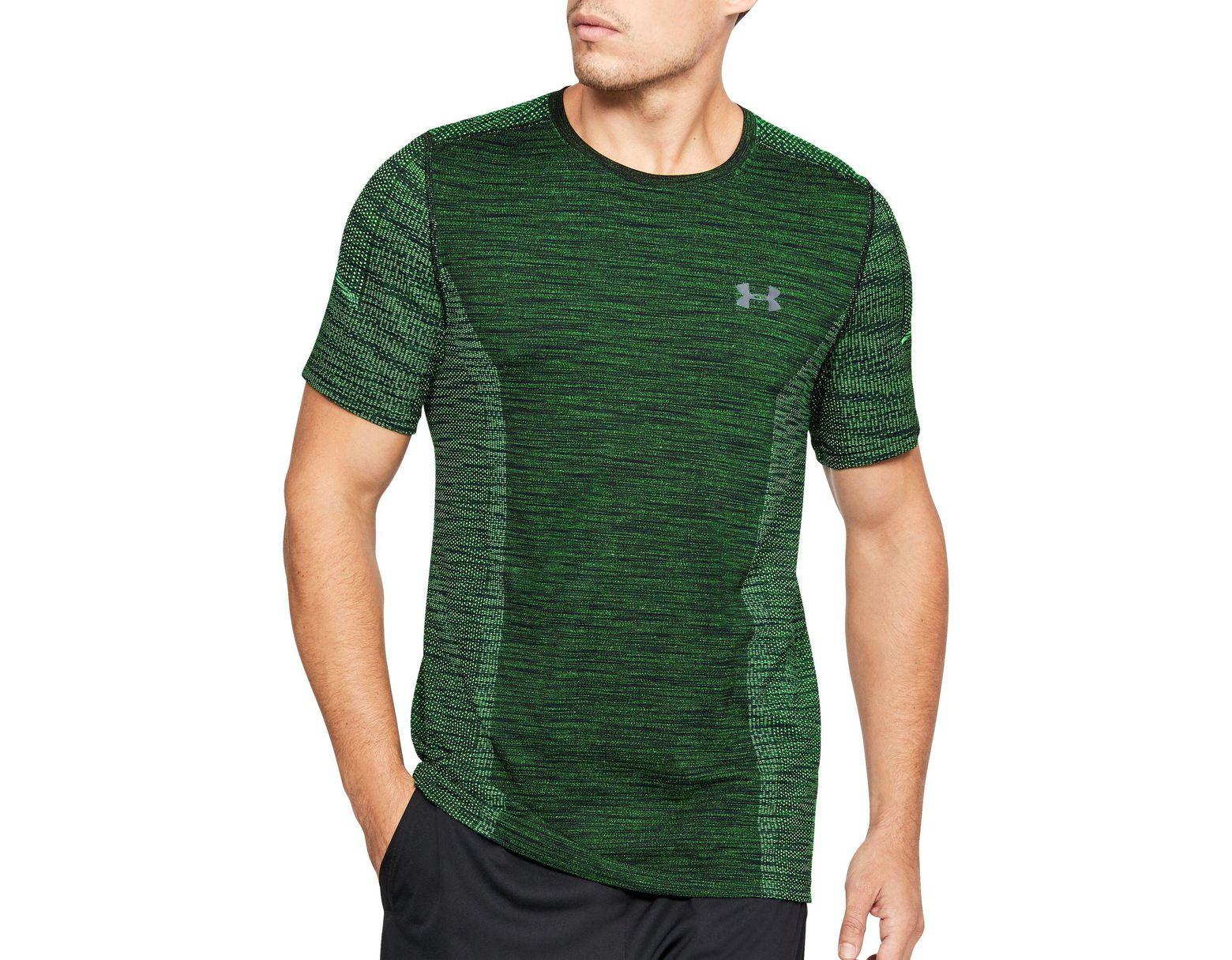 b83051910 Under Armour Threadborne Seamless T-shirt in Green for Men - Lyst