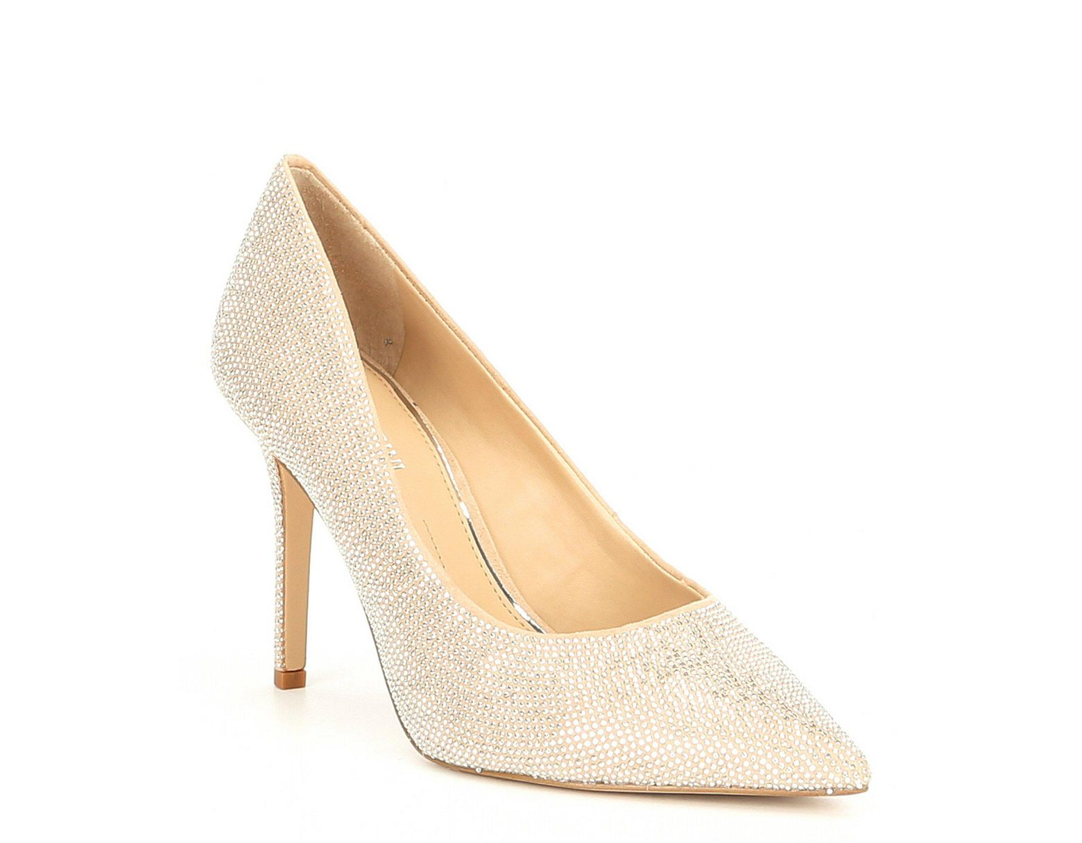 6a9b2c8710 Gianni Bini Maxxa Microsuede Studded Pumps in Natural - Lyst