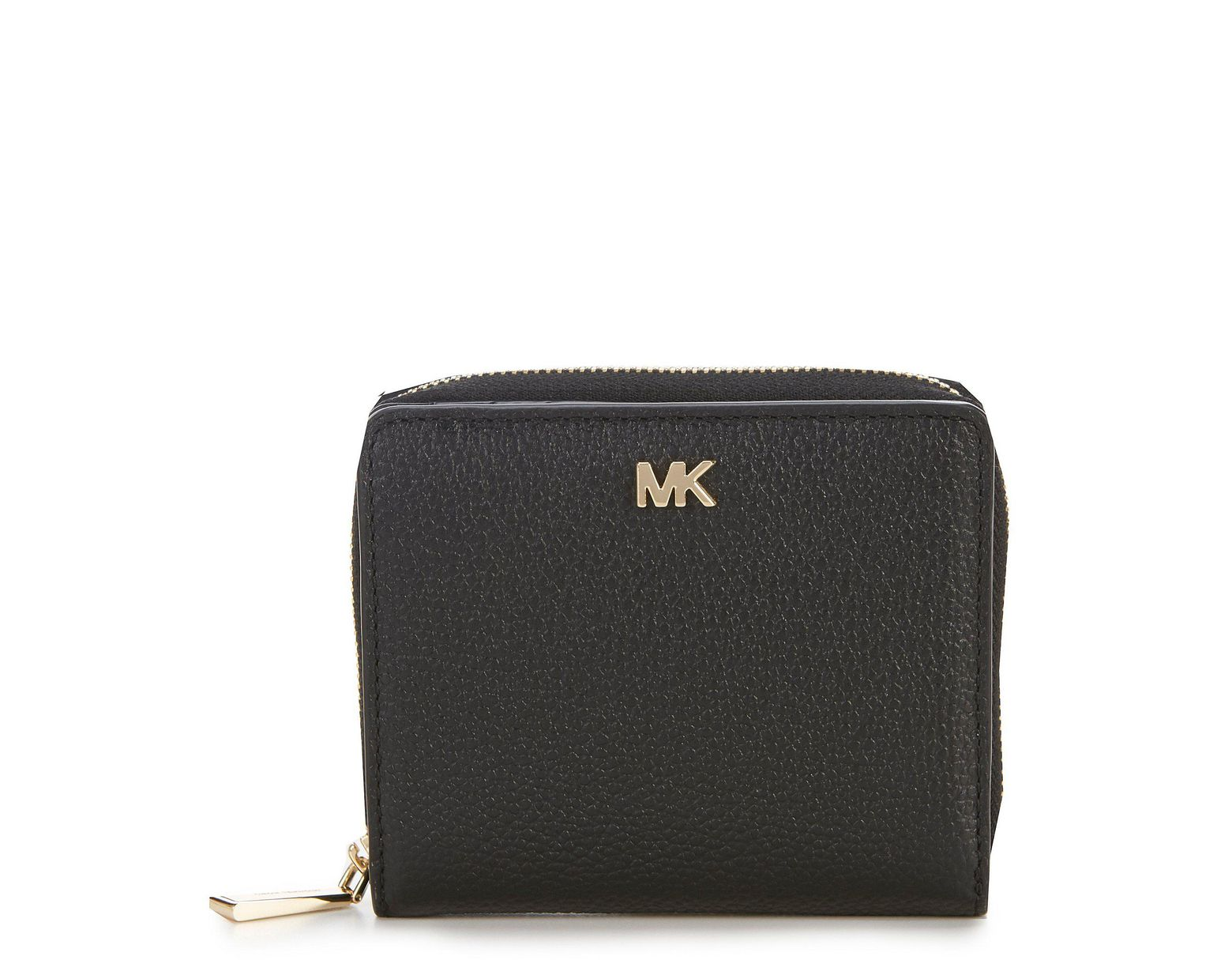 9c224cb6cae7 MICHAEL Michael Kors Zip Around Snap Wallet in Black - Lyst