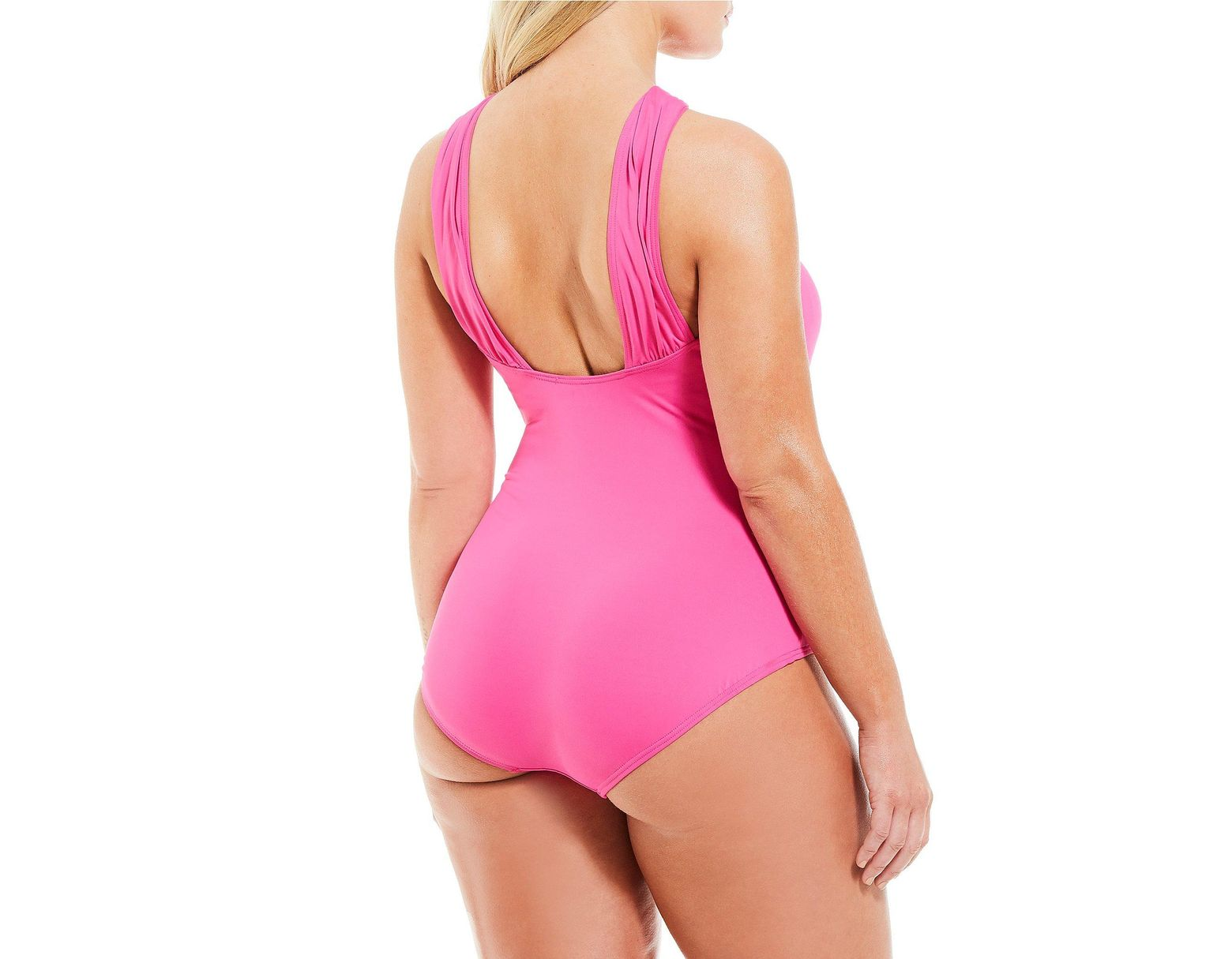 83e524933c3 MICHAEL Michael Kors Plus Size High Neck Tummy Control One Piece Swimsuit in  Pink - Lyst