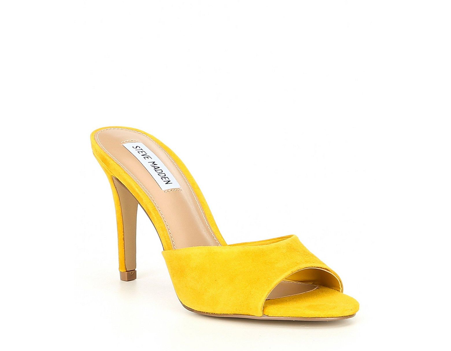3c63e10acd0b Steve Madden Erin Suede Stiletto Sandals in Yellow - Save 41% - Lyst